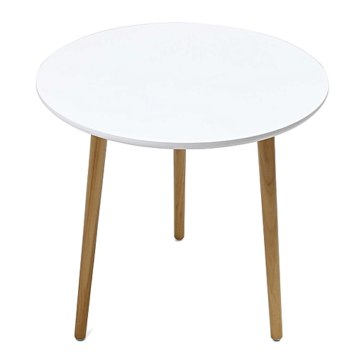 Side Table Coffee Table Bedside Round Lamp Home Office Furniture Wood White