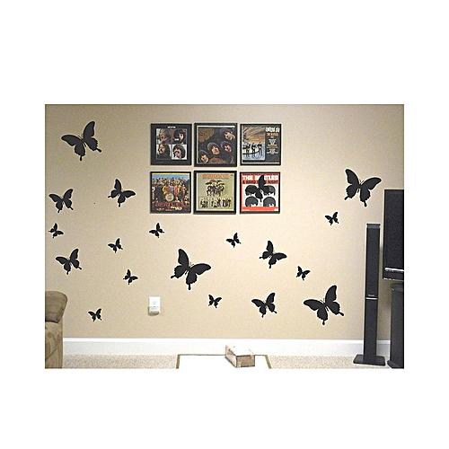 Butterflies, 60 Pieces Wall Sticker