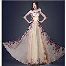 High Elegant Floral Women Dress Evening NEW Flower Design Formal Attire Long Lady Dresses Wedding Party One Shoulder Sexy Robe Show (Color:c0) for sale  Nigeria