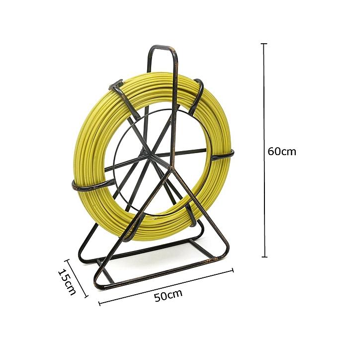 6mm 130m Fish Tape Fiberglass Wire Cable Running Rod Duct Rodder Fishtape  Puller