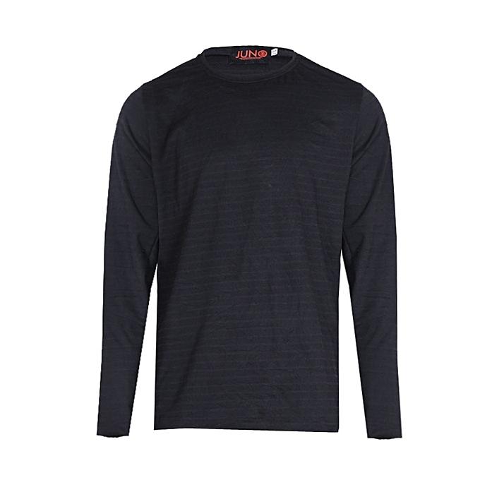 b4474e4c Juno Subtle Stripe Long Sleeve T-Shirt - Black | Jumia NG