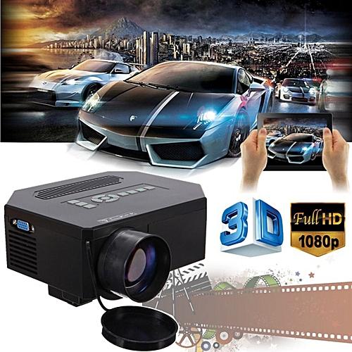 Multimedia HD Projector 3D LED Home Theater Cinema 8000 Lumens HDMI VGA TV AV