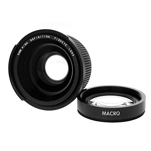 58mm 0.35X Fisheye Wide Angle Lens With Macro For CANON 1100D 700D 650D 600D 60D 7D
