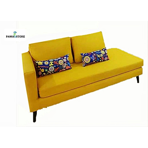 PAWA FURNITURE MODERN LOVE SEAT SOFA + 1 Free Ottoman (Delivery To Lagos Only)