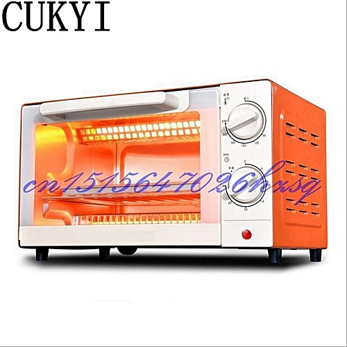 CUKYI Household Electric Multifunctional Mini Oven Baking And 10L Temperature Control Cake Two Colors 1000W Stainless Steel