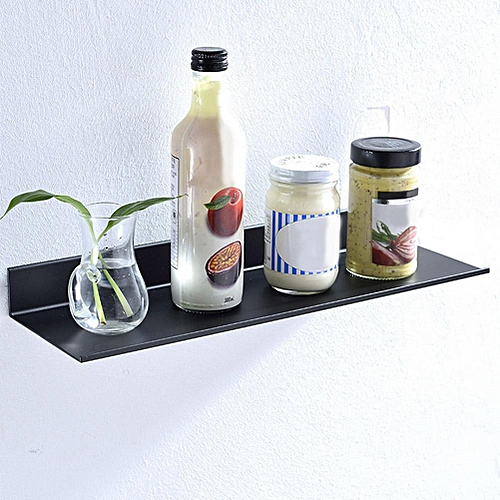 Black Bathroom Single-layer Space Aluminum Matte Rack Shelve Shampoo Shower Shelf Holder Kitchen Storage Rack Organizer
