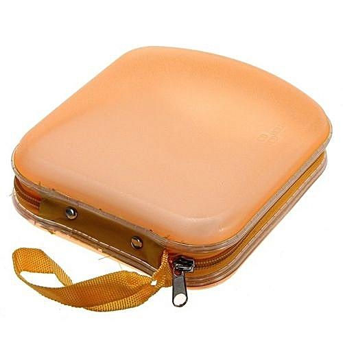 40 Disc CD DVD VCD Storage Holder Sleeve Case Hard Box Wallet Carry Bag Zipper Orange
