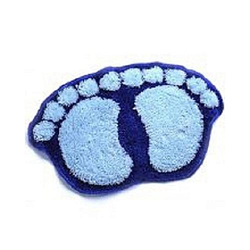 Fluffy Bath Foot Mat - Blue