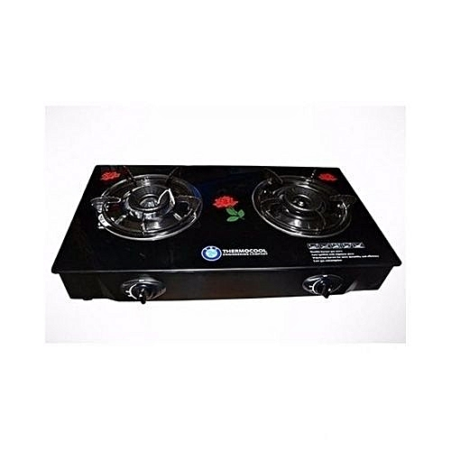 Haier Thermocool Haier Thermocool 2 Burners Glass Top Gas Cooker - Black