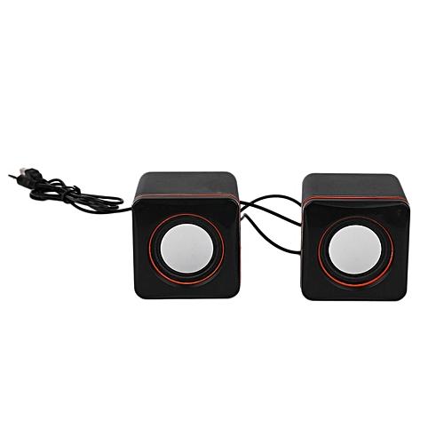 Mini Portable Square Wired USB Audio Music Player Speaker MP3 Laptop PC