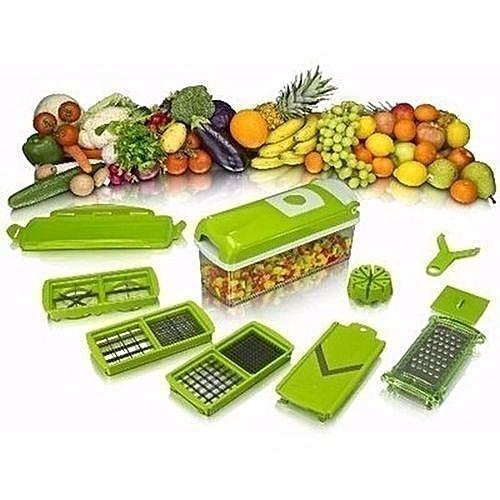 Nicer Dicer Multifunctional Fruits And Vegetables Slicer, Chopper And Peeler Green.,