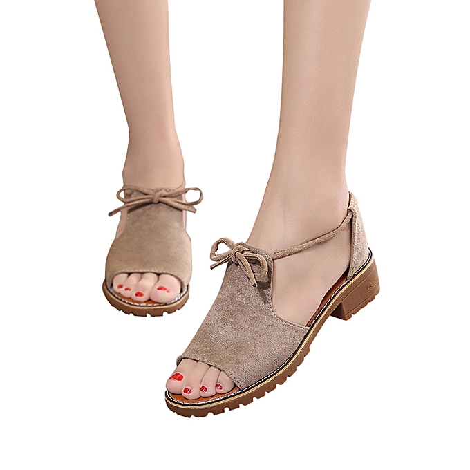 Featured Women s Ladies Lace Up Wedge Espadrilles Summer Chunky Holiday  Sandals Shoes cdfafb269