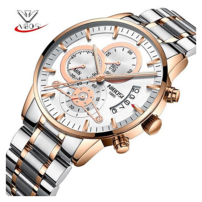 3051391db49 Relogio Masculino NIBOSI Luxury Men s Wristwatches Stainless Steel Sport  Clock Man Gold Male Watches Top Brand
