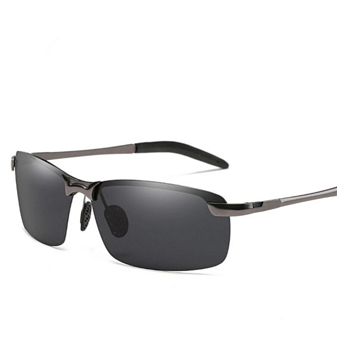 5dc2770773 Polarized Sunglasses Men Brand Designer Male Vintage Sun Glasses Eyewear (Gray)