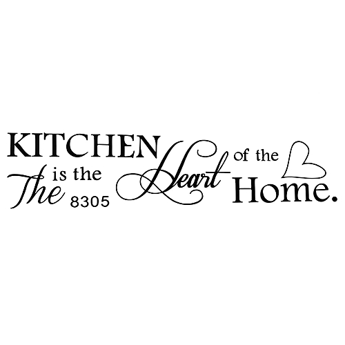 Kitchen Heart Home Wall Stickers Vinyl Decal Removable Home Decor