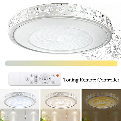 24W 220V LED Acrylic Ceiling Panel Light Trichromatic Stepless Adjustment Remote