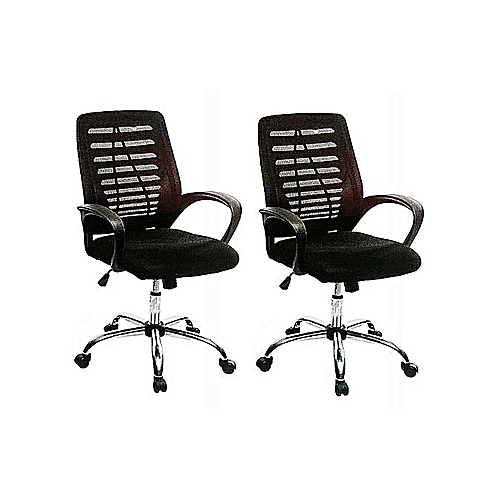 Medium Swivel Office Chair - Set Of 2 Chairs