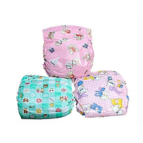 3pcs Re-washable Baby Diaper + Adjustable Waist Seal