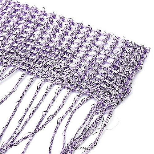 String Door Curtain Beads Window Panel Room Divider Crystal Tassel Fringe Beaded #purple