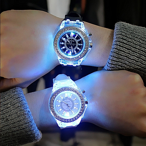 2019 Geneva Silicone LED Luminous Fashion Wrist Watch