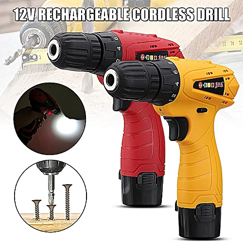 12V Cordless Rechargeable Drill Driver Electric Screwdriver With Box