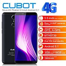 """Nova / 5C,  4G, 5.5"""" (3GB RAM + 16GB ROM) Android 8.1, Dual SIM - Black"""