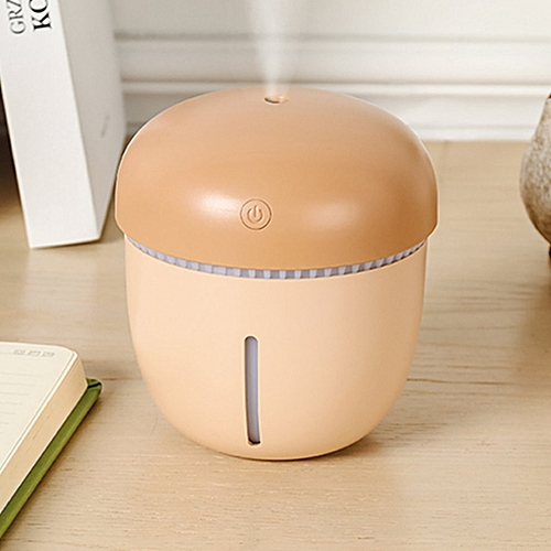 USB Air Humidifier Colorful LED Night Lamp Mini Portable Home Humidifier Brown L