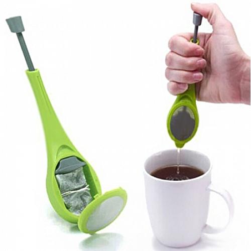 Tea Pusher Pusher Type Silicone Reusable Tea Bag