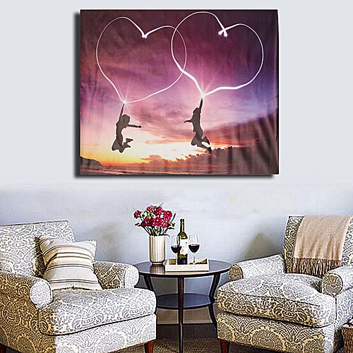 Modern Abstract Heart Oil Art Canvas Painting Picture Wall Decoration Unframed -Multi