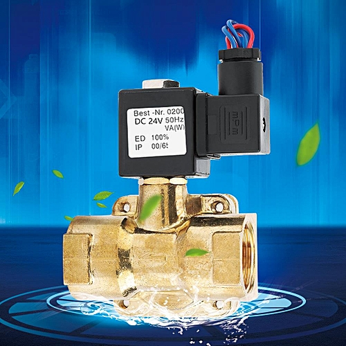 24VDC G1 1.6MPA 2 Way N/C Diaphragm Electric Solenoid Valve (24VDC)