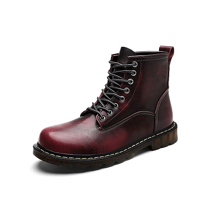 bd36db74a Fashion Dr. Martens Unisex 1460 8-Tie Lace-Up Boot-Wine Red | Jumia NG