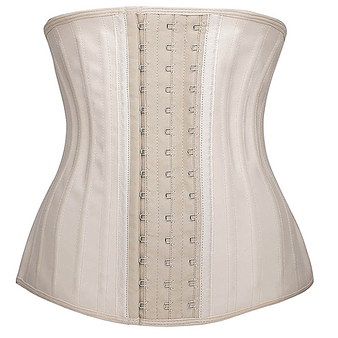 fb129ef9c7 Fashion Women s Latex Waist Trainer 25 Steel Bones Shapewear-Beige ...