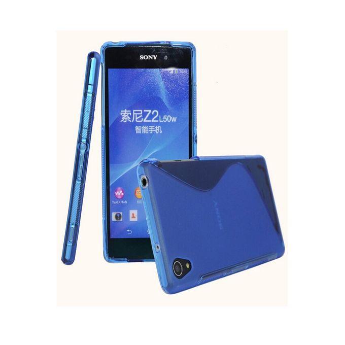 sline sony xperia z2 blue sline rubber gel phone case buy online jumia nigeria