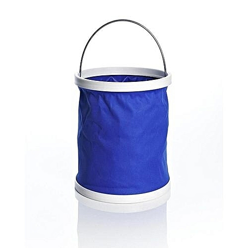 Foldable/Collapsible Water Bag/Bucket - Blue