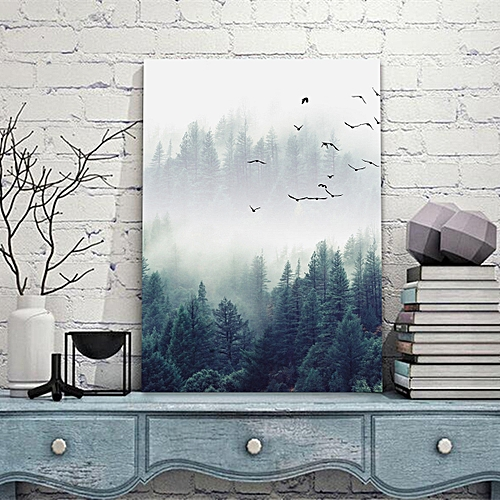 Forest Landscape Wall Art Canvas Print Painting Poster Home Decoration No Frame-40x50cm-Multi