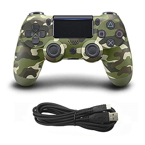 Game Controller Console USB Wired Connection Gamepad For Sony PS4 Color:Army Green