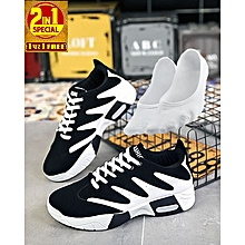 2 In 1 Elegant Designer Athletic Sneakers & Ankle Socks Set- V2 height=220