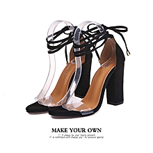 d0bad88821a Europe And The United States Transparent Belt Personality Strap High Heel  Thick With Women Sandals -