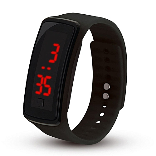 LED Outdoor Sports Soft Silicone Watchband Electronic Wrist Watch For Women
