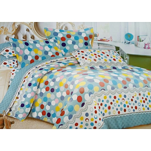 Bed Sheet With Four Pillow Cases - Multi