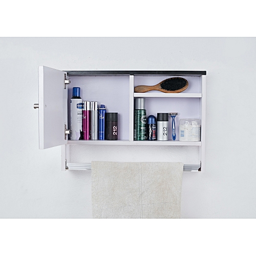 Mirror Cabinet With Shelf Plus Towel Hanger