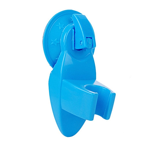 New Shower Room Bathroom Suction Type Chuck Holder Fixed Wall Mount Bracket Blue
