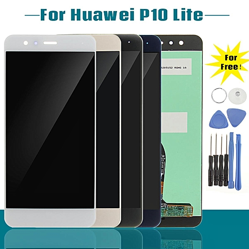 LCD Display Touch Screen Glass Digitizer Assembly + Tools For Huawei P10 Lite White