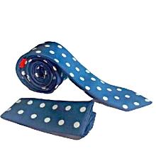 798632f3e9e2a Men  039 s Tie- Slimy Blue With White ...