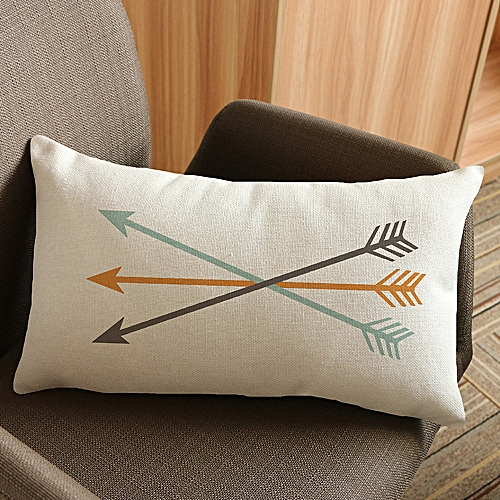 Africanmall Store Arrow Printing Sofa Bed Home Decoration Festival Pillow Case Cushion Cover E-Multicolor