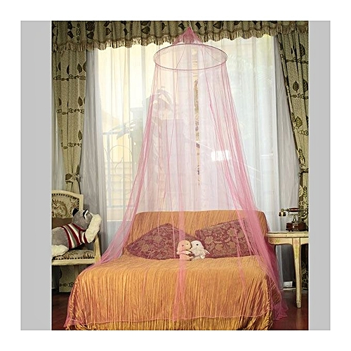 Netting Bed Canopy Round Mosquito Net - Pink