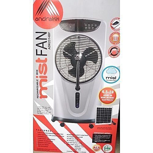 Rechargeable Air Cooler Box Mist Fan+ Remote + FREE USB Cable