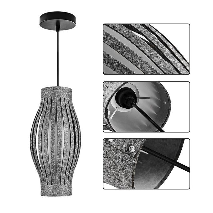 Kokobuy LED Chandelier Hanging Grey Shades Lighting Living Room ...