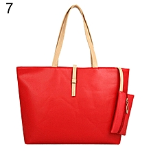 75fef7e452 Women  039 s Big Shoulder Bag Faux Leather Handbag Buckle Clutch Messenger  Purse-