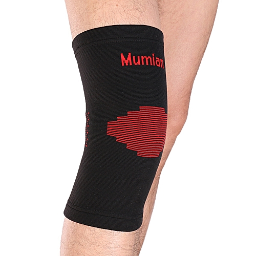 2a6b354820 Mumian Mumian Elastic Sports Leg Knee Support Brace Wrap Protector Knee Pads  Sleeve Cap Patella Guard Volleyball Knee Black Red A03 - 1PCS Size M